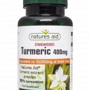 Turmeric 400mg (10,000mg equiv) 60 vcaps (Natures-Aid) 1