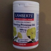 Evening primrose and starflower oil capsules