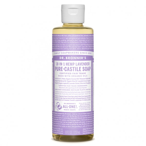 organic lavender castile liquid soap 237ml