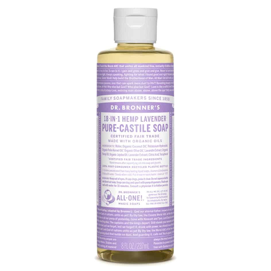 Organic Lavender Castile Liquid Soap 237ml Dr Bronner