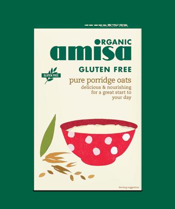 Amisa Organic Gluten Free Porridge Oats