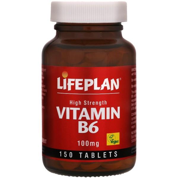 Lifeplan High Strength Vitamin B6 100mg x 150