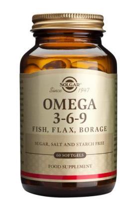 Solgar Omega 3-6-9 Fish, Flax & Borage x 60
