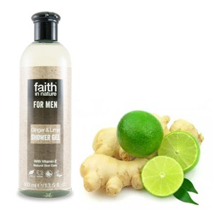 Faith in Nature For Men Ginger & Lime Shower Gel