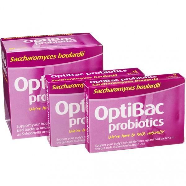 OptiBac probiotics - Saccharomyces boulardii - 8 caps