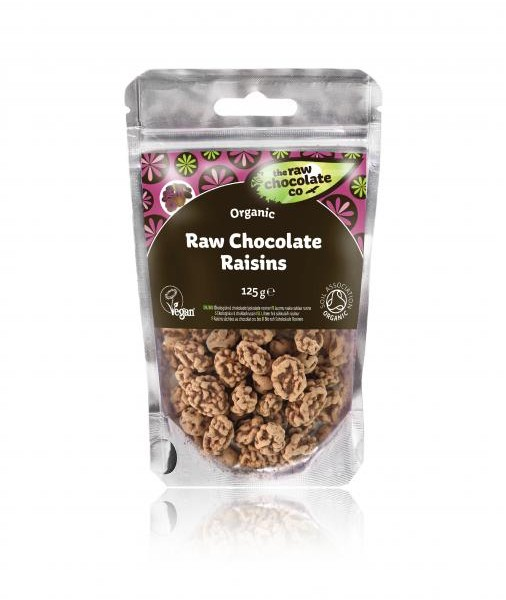 Raw Chocolate Raisins 125g